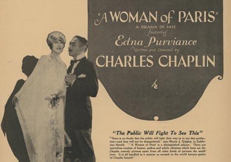 A Woman of Paris, Charles Chaplin